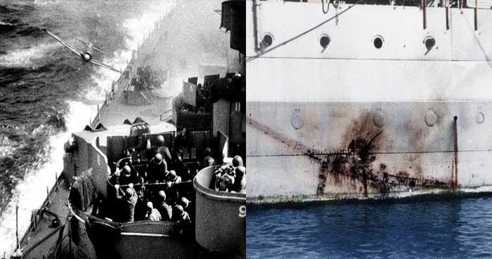 영국 함선이 '가미카제'공격을 받았으나 흠집만 남았던 이유.
