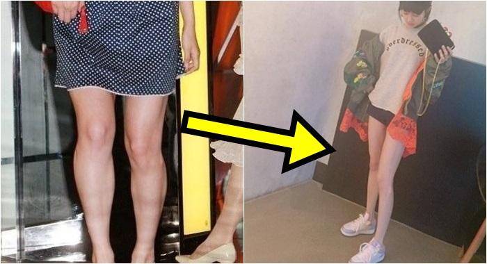 어느 여배우의, 어마어마한 다이어트 전후 다리 차이