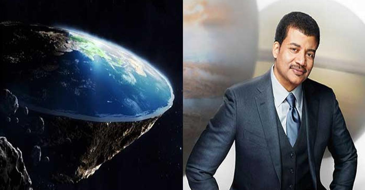 사진 한장으로 '평면지구론자'들을 조롱한 유명 '천체물리학자'