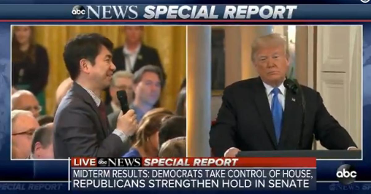 일본 기자 '영어발음'을 못 알아듣자 '트럼프'가 한 말