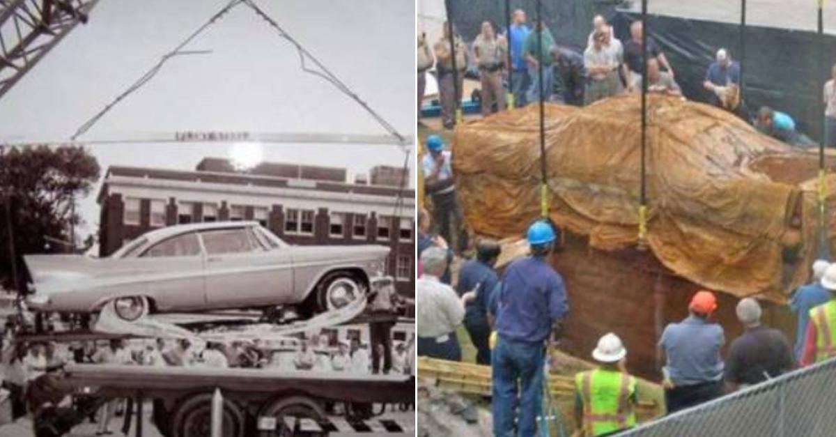 '50년'동안 땅 속에 묻혀있던 자동차를 꺼내봤더니 생긴 일
