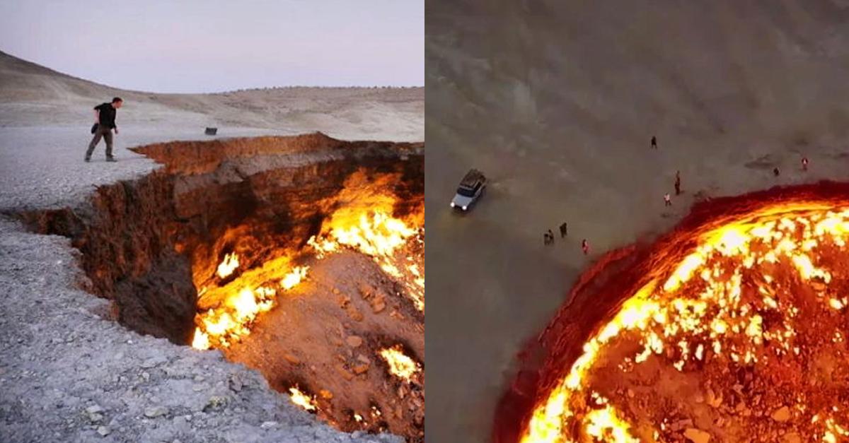 중앙아시아 사막에서 실제 발견된 지옥의 문 ㄷㄷ