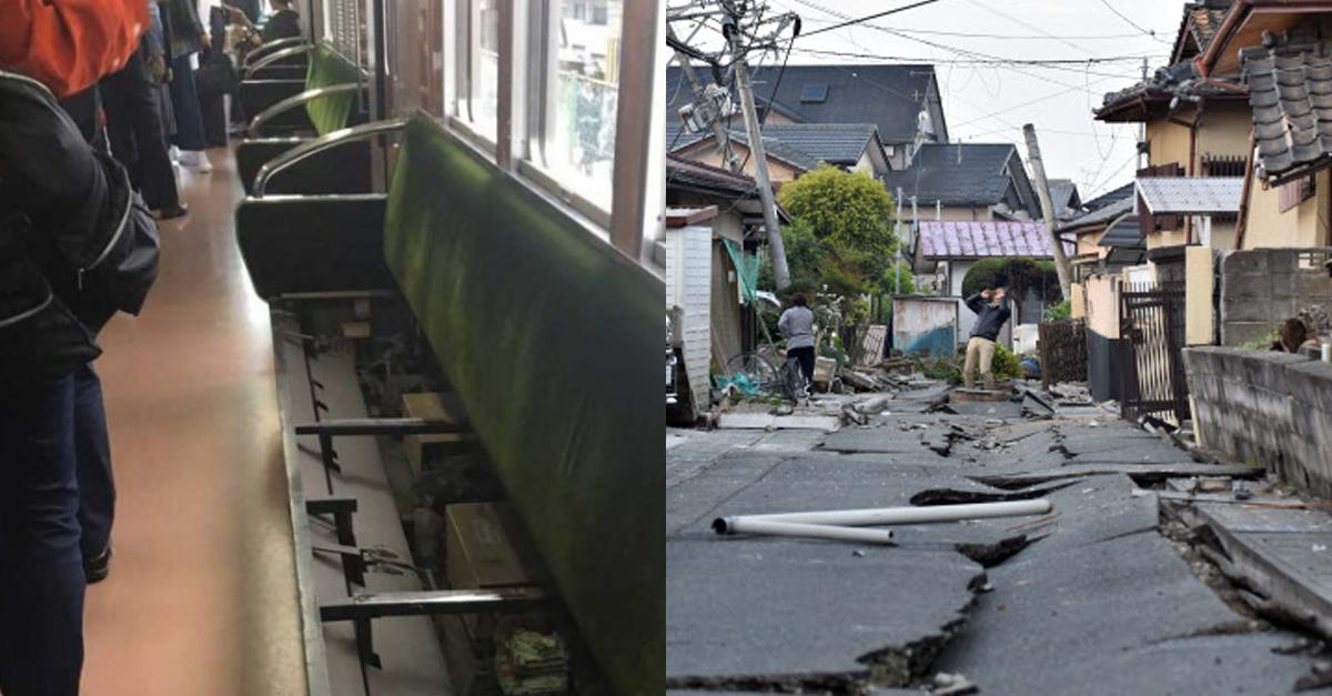 일본 전철에서 지진났을 때 '탈출'하는 방법