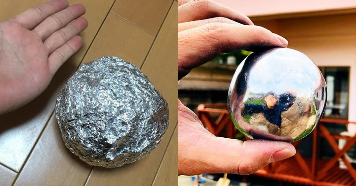 알루미늄 호일로 진짜 '쇠구슬' 만들 수 있는 방법 ㄷㄷ