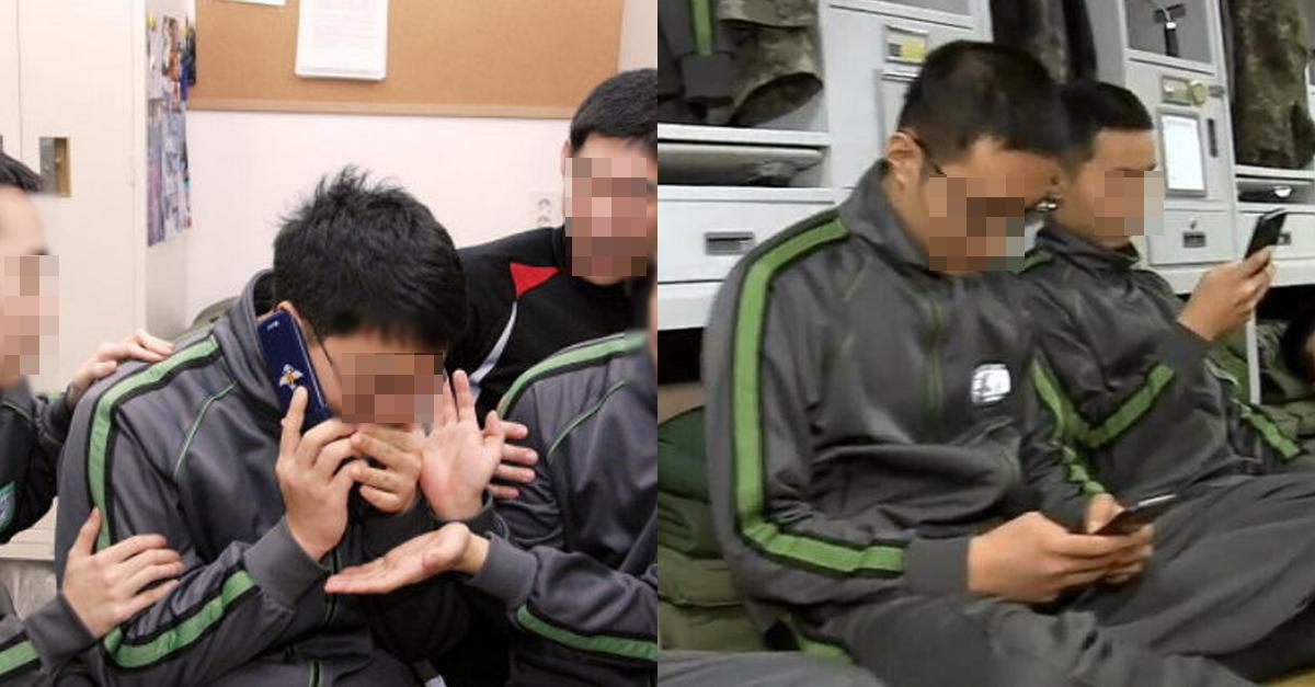 부대 내에서 '휴대폰 사용' 허가되자 군인들 근황