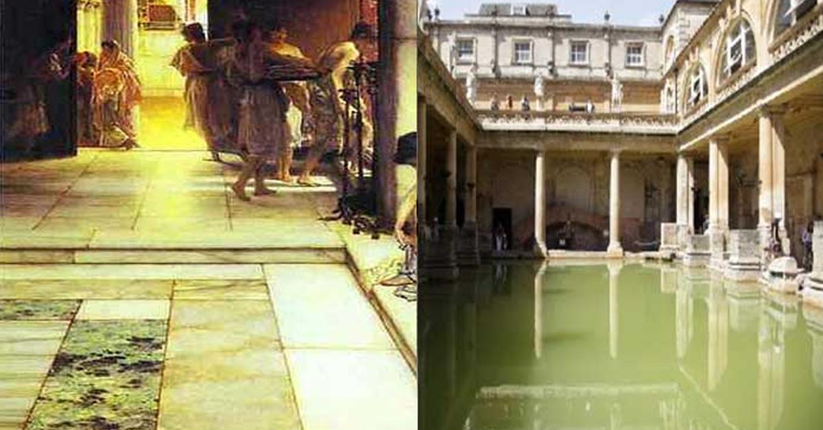고대 로마시대에 사용하던 목욕탕 위생상태 수준….
