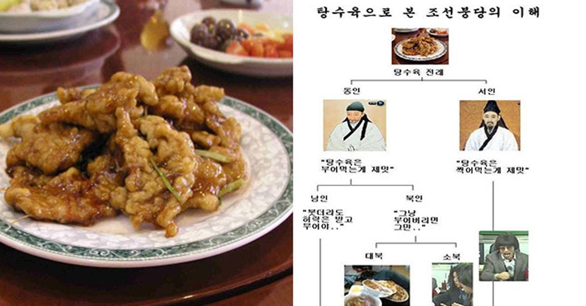 탕수육으로 본 '조선시대 붕당'의 쉬운 이해
