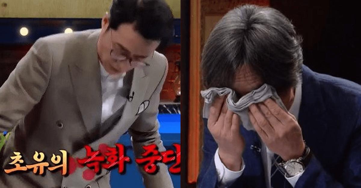 KBS 역사저널 그날 방송 최초로 녹화 중단됐던 사건