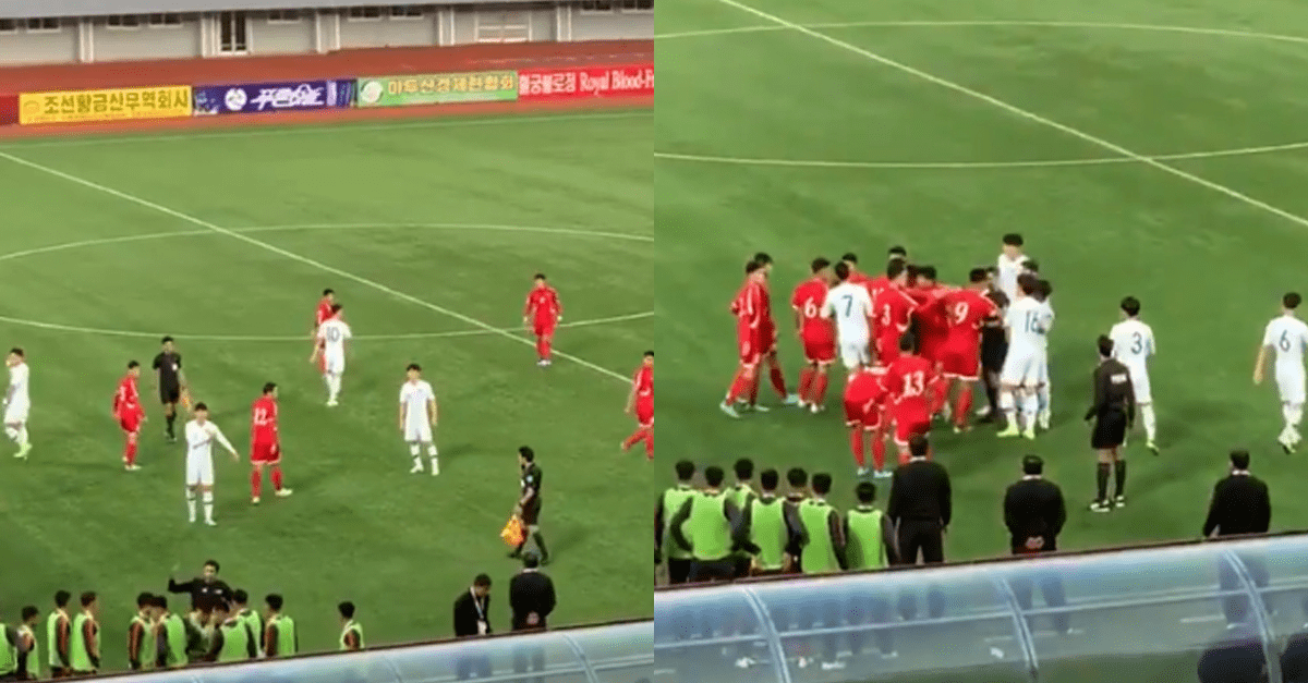 어제자 한국vs북한 축구 경기에서 벌어진 사건..
