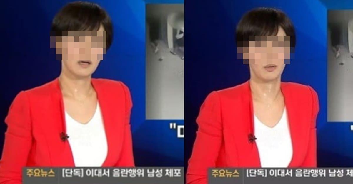 뉴스 생방송하던 아나운서 초대형 방송사고