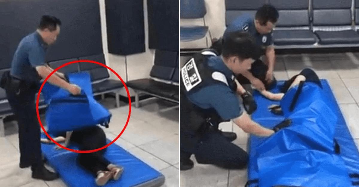 경찰관들이 '여자 취객'에게 해야 하는 행동
