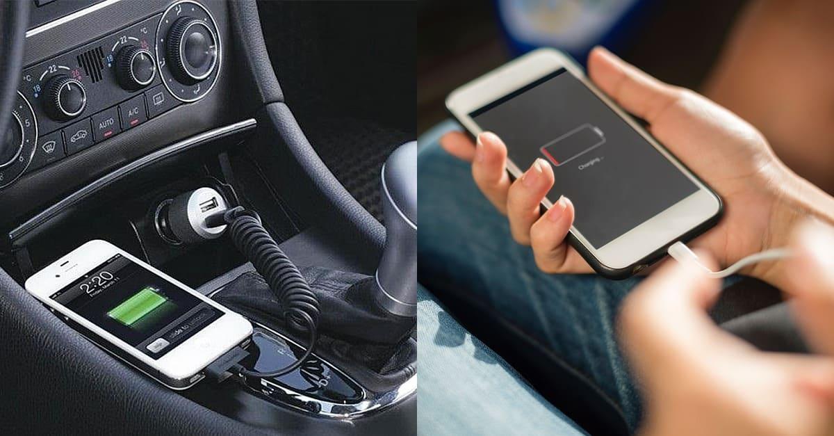 자동차에서 절대 휴대폰 '충전'하면 안 되는 이유