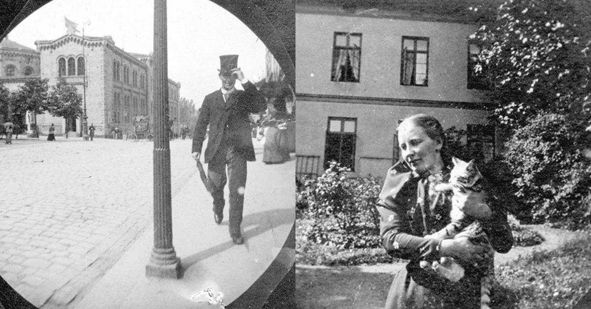 대학생이 카메라 숨기고 몰래 찍은 1890년대 거리