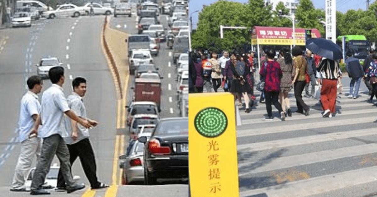 중국에서 '무단횡단'하면 겪는 일