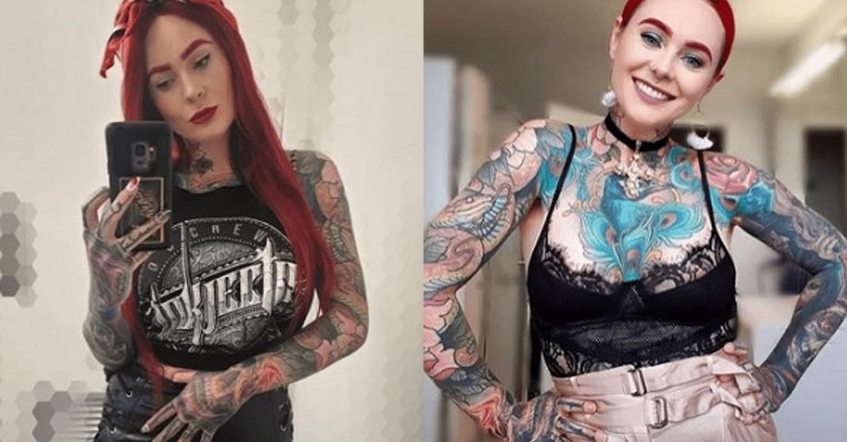 문신이 너무 많아 논란됐던 여성 의외의 직업