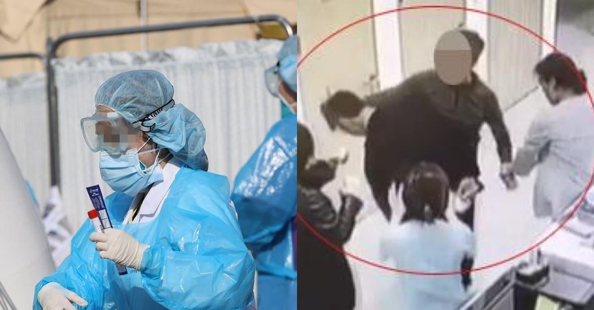 대기해달라는 간호사 '뺨때리고 머리채 잡은' 환자의 정체