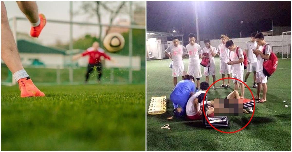 축구 경기 하다가 쓰러진 '청년'의 심각한 다리 상태..