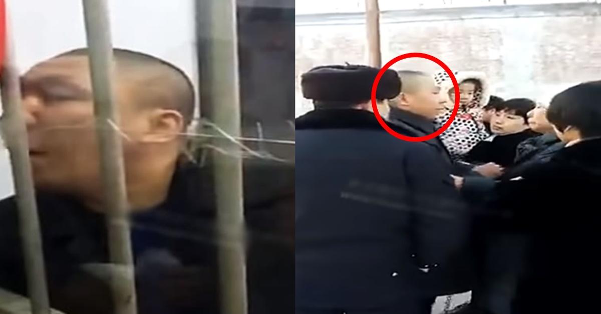 현재 중국 SNS 대폭발 중인 '사형' 집행 직전 남성 마지막 면회 영상